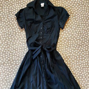 Target Merona Button Up Little Black Dress EUC!